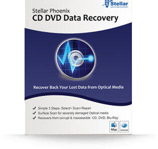 Stellar CD DVD Data Recovery Mac